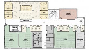 Tykeson Hall 2nd Floor Plan
